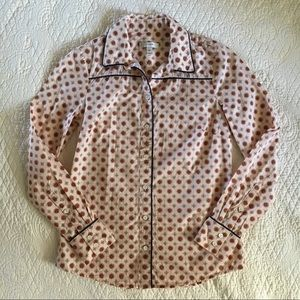 J Crew Piped Foulard Button Up Shirt 00